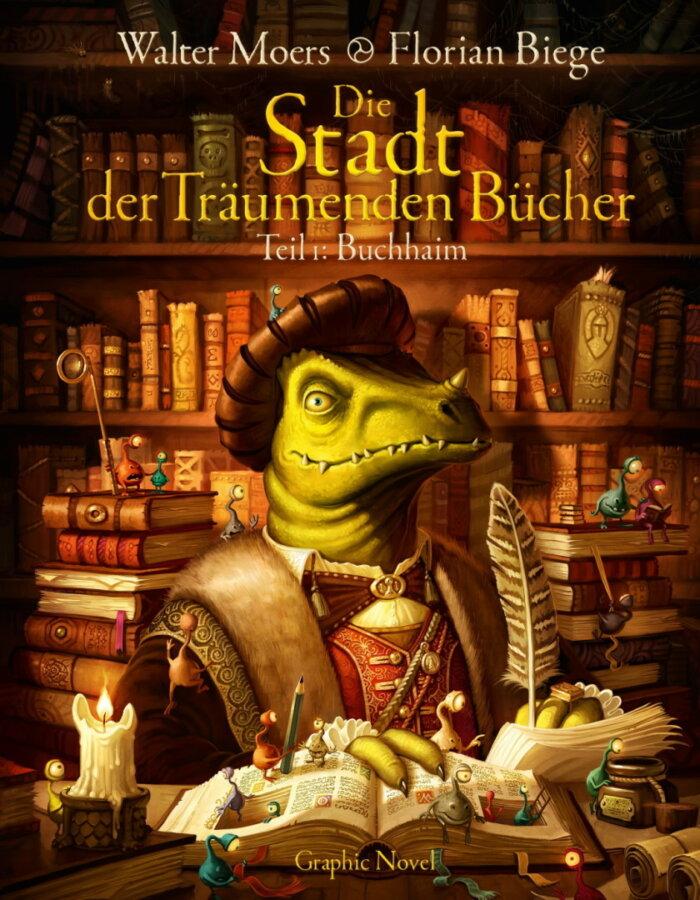 Cover zu Walter Moers – Die Stadt der Träumenden Bücher (Graphic Novel, Teil 1)