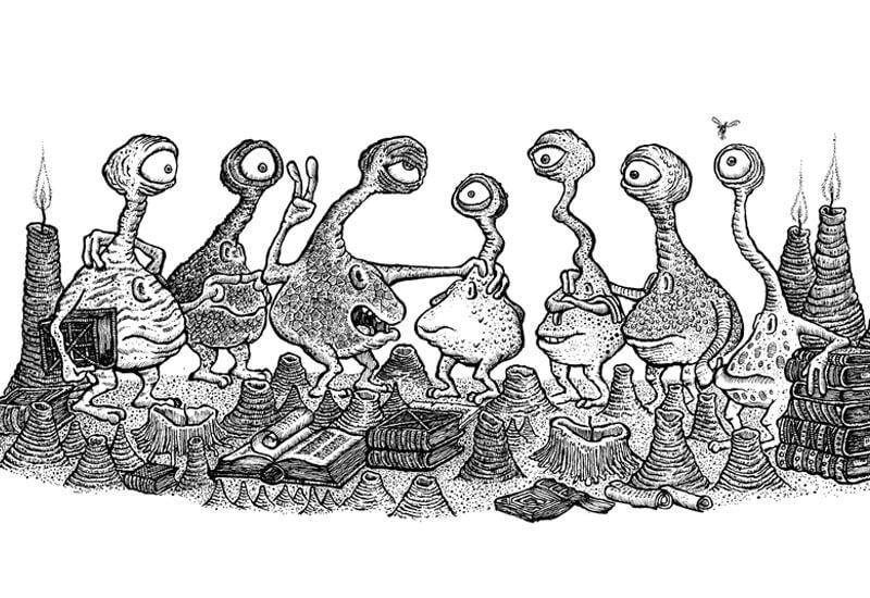 """Buchlinge aus """"Der Bücherdrache"""" © Walter Moers"""