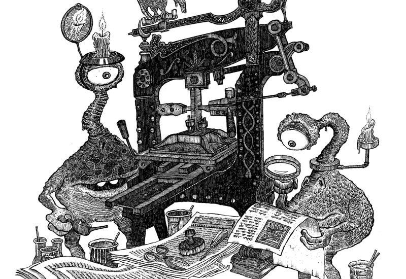 """Buchlinge aus """"Das Labyrinth der träumenden Bücher"""" © Walter Moers"""