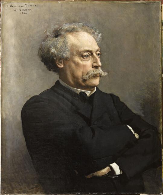 Alexandre Dumas der Jüngere (1886, Öl, Maler: Leon Bonnat) (gemeinfrei, Quelle: Wikimedia Commons)